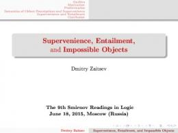 Supervenience, Entailment, and Impossible Objects