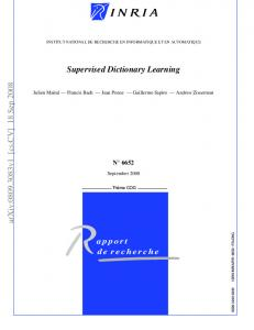 Supervised Dictionary Learning