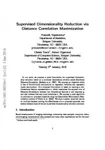 Supervised Dimensionality Reduction via Distance ... - Semantic Scholar