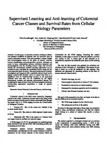 Supervised Learning and Anti-learning of Colorectal Cancer Classes ...
