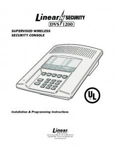 SUPERVISED WIRELESS SECURITY CONSOLE