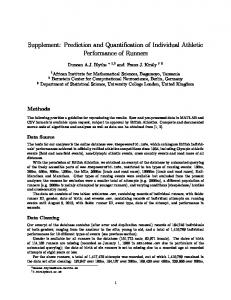 Supplement: Prediction and Quantification of Individual ... - PLOS