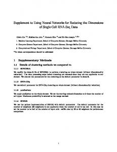 Supplement to Using Neural Networks for ... - Semantic Scholar