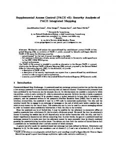 Supplemental Access Control (PACE v2): Security Analysis of PACE ...