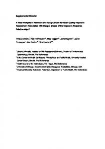 Supplemental Material A Meta-Analysis of Asbestos and Lung Cancer ...