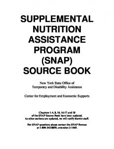 supplemental nutrition assistance program (snap) source book
