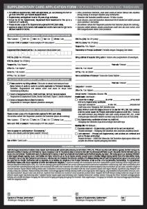 SUPPLEMENTARY CARD APPLICATION FORM ... - Maybank