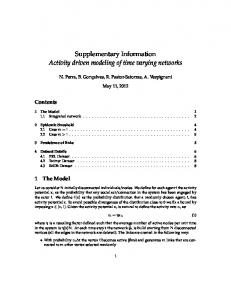 Supplementary Information Activity driven modeling of ...