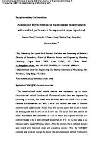 Supplementary Information Anodization driven synthesis of nickel