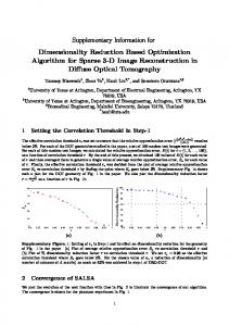 Supplementary Information for Dimensionality