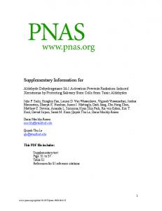 Supplementary Information for - PNAS