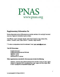 Supplementary Information for