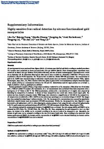 Supplementary Information Highly sensitive free radical detection by ...