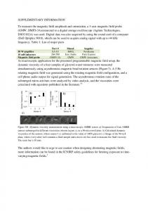 SUPPLEMENTARY INFORMATION To measure the ...