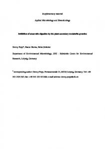 Supplementary material Applied Microbiology and ...