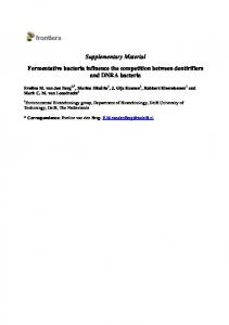 Supplementary Material Fermentative bacteria