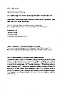 Supplementary materials Applied Microbiology and