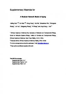 Supplementary Note - Molecular Systems Biology