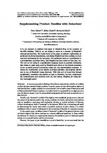 Supplementing Product Families with Behaviour - Semantic Scholar