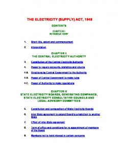 (Supply) Act, 1948 - Central Electricity Regulatory Commission