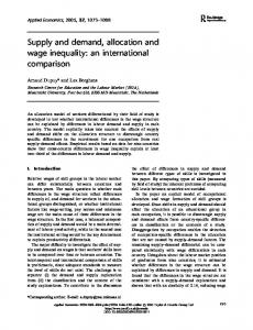 Supply and demand, allocation and wage inequality