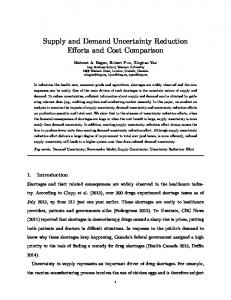 Supply and Demand Uncertainty Reduction Efforts ... - Employees.ORG