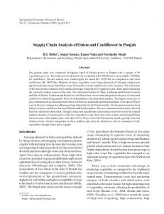 Supply Chain Analysis of Onion and Cauliflower in ... - AgEcon Search