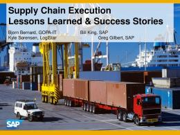 Supply Chain Execution Lessons Learned & Success ... - SAP.com