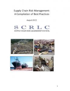 Supply Chain Risk Management: A Compilation of Best Practices