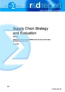 Supply Chain Strategy and Evaluation