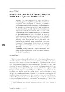 support for democracy and meanings of democracy: equality ... - dLib