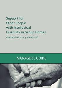 Support for Older People with Intellectual Disability in