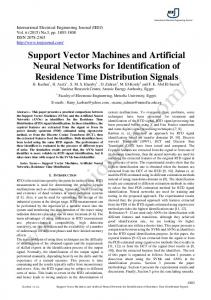 Support Vector Machines and Artificial Neural Networks for ...