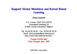Support Vector Machines and Kernel Based Learning - ESAT KULeuven