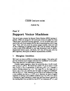 Support Vector Machines - CS 229