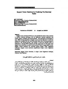 Support Vector Machines for Predicting The ...