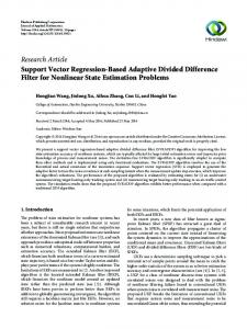 Support Vector Regression-Based Adaptive Divided Difference Filter ...