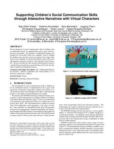 Supporting Children's Social Communication Skills through Interactive ...