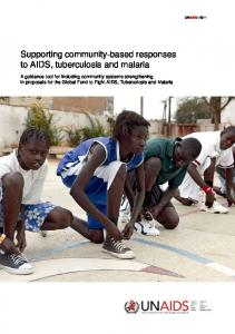 Supporting community-based responses to AIDS, tuberculosis and ...