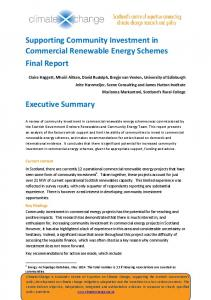 Supporting Community Investment in Commercial Renewable Energy ...