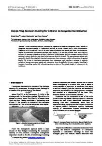 Supporting decision-making for channel conveyance maintenance