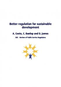 Supporting document- Better regulation for sustainable development