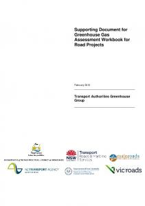 Supporting Document for Greenhouse Gas Assessment Workbook ...
