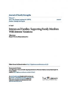 Supporting Family Members With Intersex Variations