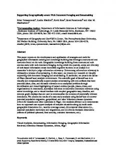 Supporting Geographically-aware Web Document Foraging and ...