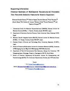 Supporting Information: Chemical Synthesis of ...