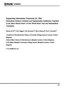 Supporting Information Document (S1 File) Interactions ... - PLOS