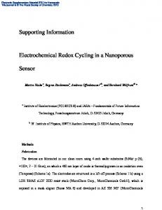 Supporting Information Electrochemical Redox Cycling in a ...