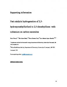 Supporting information Fast catalytic hydrogenation of ...