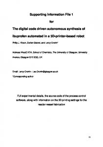 Supporting Information File 1 for The digital code ... - Beilstein Journal